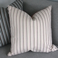 Brown pink stripe cushion