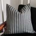Brown black stripe cushion