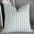 Brown blue stripe cushion