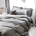 Mono solid cotton bedding set modern