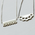 Lace, pattern Necklace [silver]