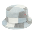 MADRAS BUCKET HAT-SKY BLUE