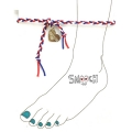 [����ġ] braided anklet - red mix