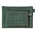 green swiss cross pouch