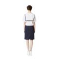 H-line Zipper Skirt (Navy)