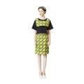 H-line Zipper Skirt (Kitenge Yellow)