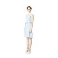 Hanbok Collar Wrap Dress (Pale Blue)