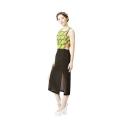 Baeja Slit Dress (Black+Kitenge Yellow)