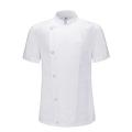 #AJ1528 basic 1/2 chef coat (white)