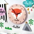북유럽 감성 원형 무소음벽시계 (여우)