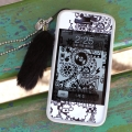 Rabbit fur strap-black