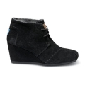 Black Suede Desert Wedges (W)