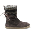 Brown Wool Stripe Nepal Boots (W)