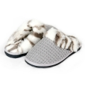 [MOG.AUS] Lattice Knit Fur Slipper 010