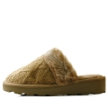 Knit fur slippers_KM13w171