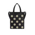 [�ǽ�����Ŀ] FLORAL ICON LEATHER TOTE BAG (BLACK)_(400053134)