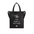 [�ǽ�����Ŀ] OUR GAME IS NOT OVER LEATHER TOTE BAG (BLACK)_(4000