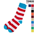 Vivid Block Stripe Socks