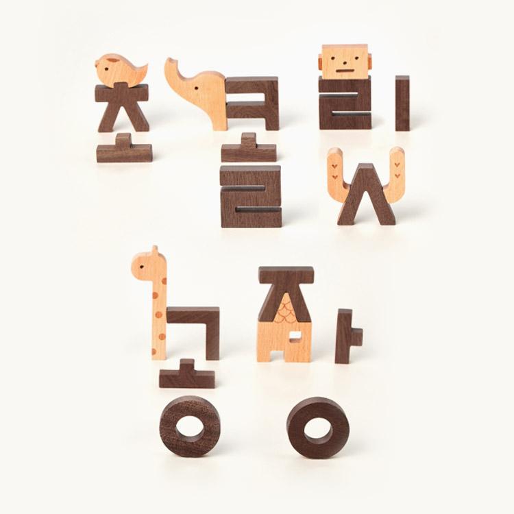 이응이 한글 블록