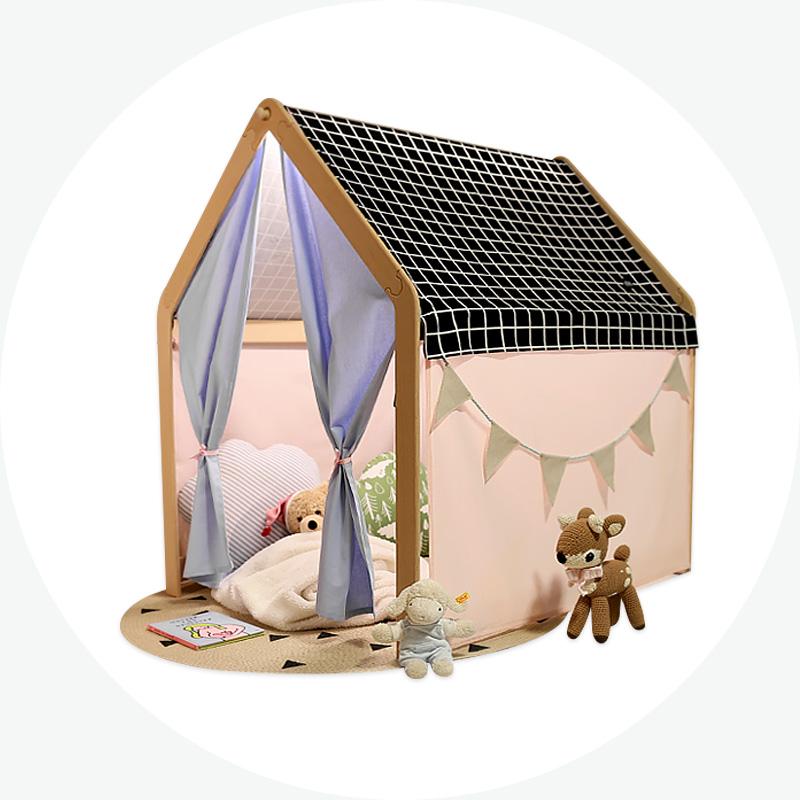 [아기 인디언텐트] 유럽산 원목_어린이 플레이하우스_스탠다드