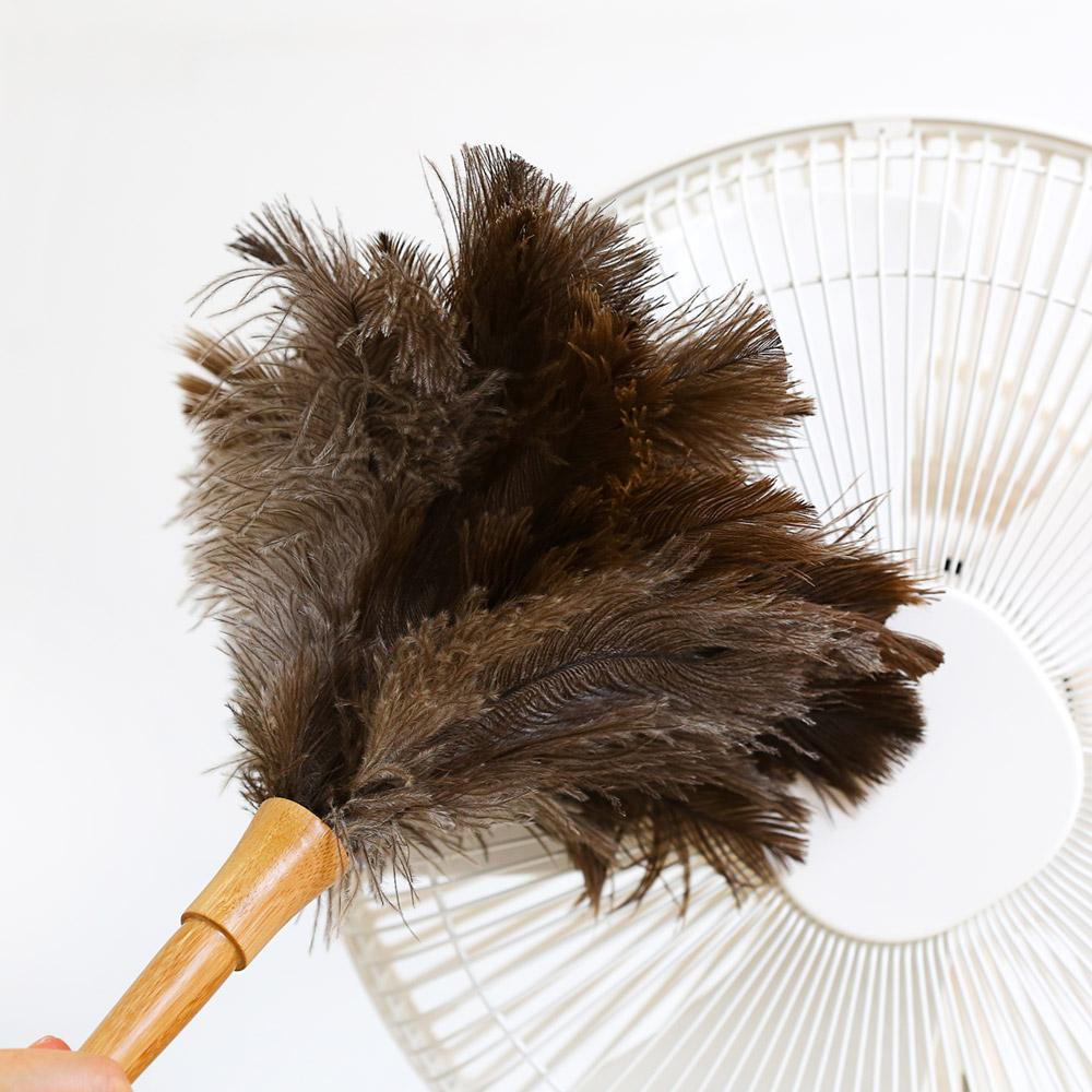 천연 타조깃털 먼지털이개
