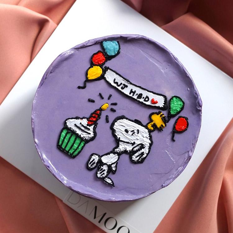 [텐텐클래스] (성남) 수채화같은 감성적인 드로잉케이크 만들기