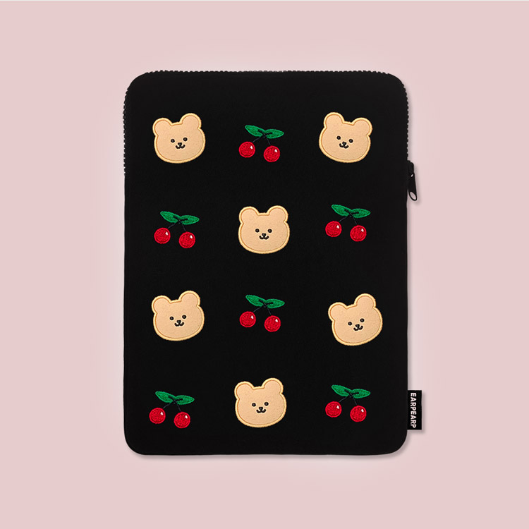 [12.13 예약배송]Dot cherry bear-ipad pouch(아이패드 파우치)