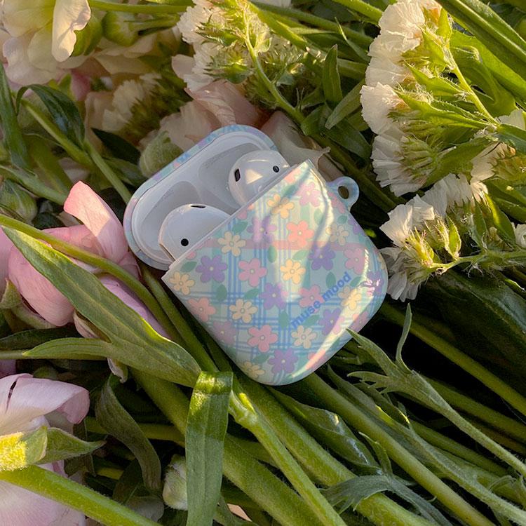 [뮤즈무드] baby flower airpods case (하드에어팟케이스)
