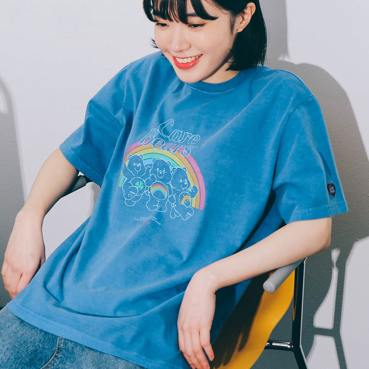 [6/2예약] [아이린착용] RONRON TRIPLE BEARS T-SHIRT PIGMENT BLUE