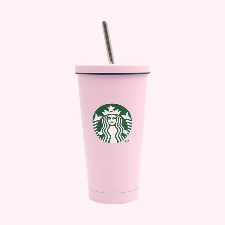스타벅스 파스텔 콜드컵 핑크 473ml