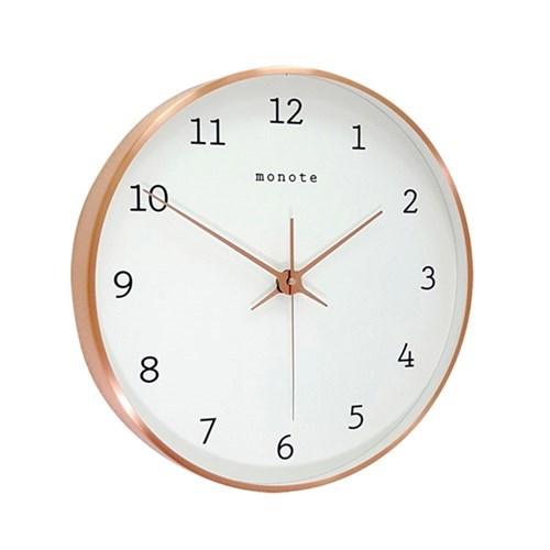 [모노뜨] 로즈골드 카파프레임 벽시계 30cm