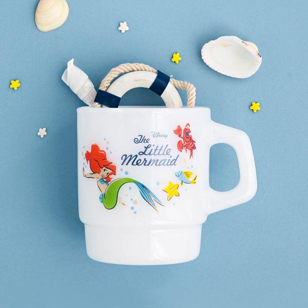 [Disney] 빈티지 크림글라스(머그컵,유리컵)