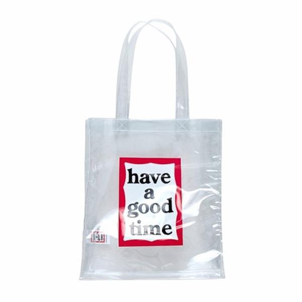 [Haveagoodtime] PVC Frame Tote _WHITE