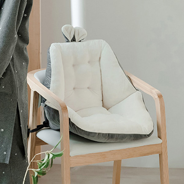 레빗 투톤 등받이 쿠션 의자 방석