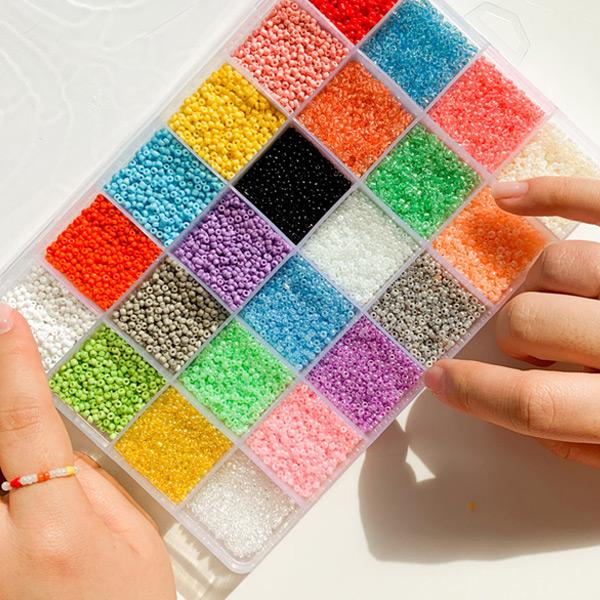 비즈 반지 마스크줄 DIY 만들기 키트 24color