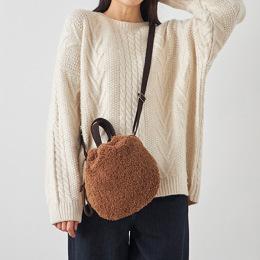 동글동글 귀여운 아이띵소 플리스 가방