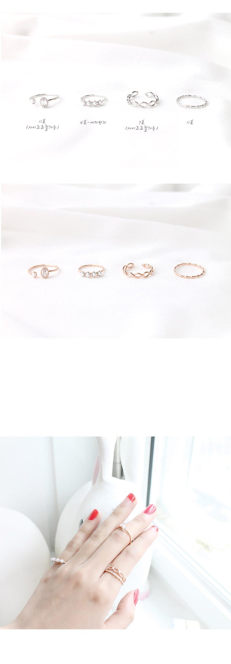 엔젤 반지 set - 라벨르, 22,000원, 실버, 실반지