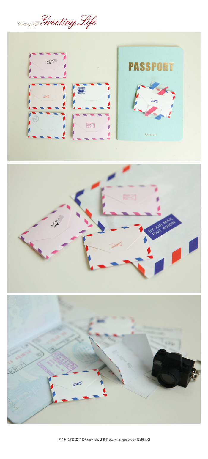Mini Envelope Card(Air Mail)