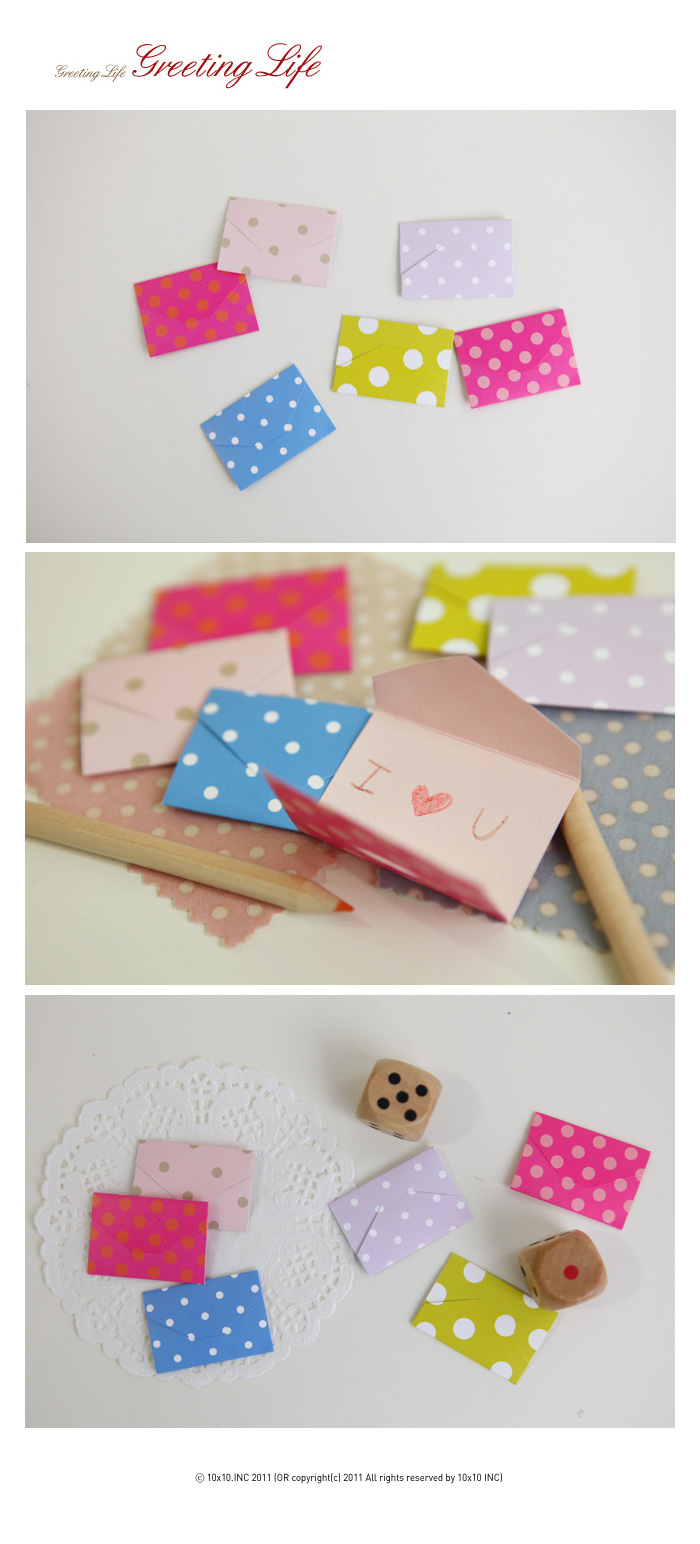Mini Envelope Card(Dot)