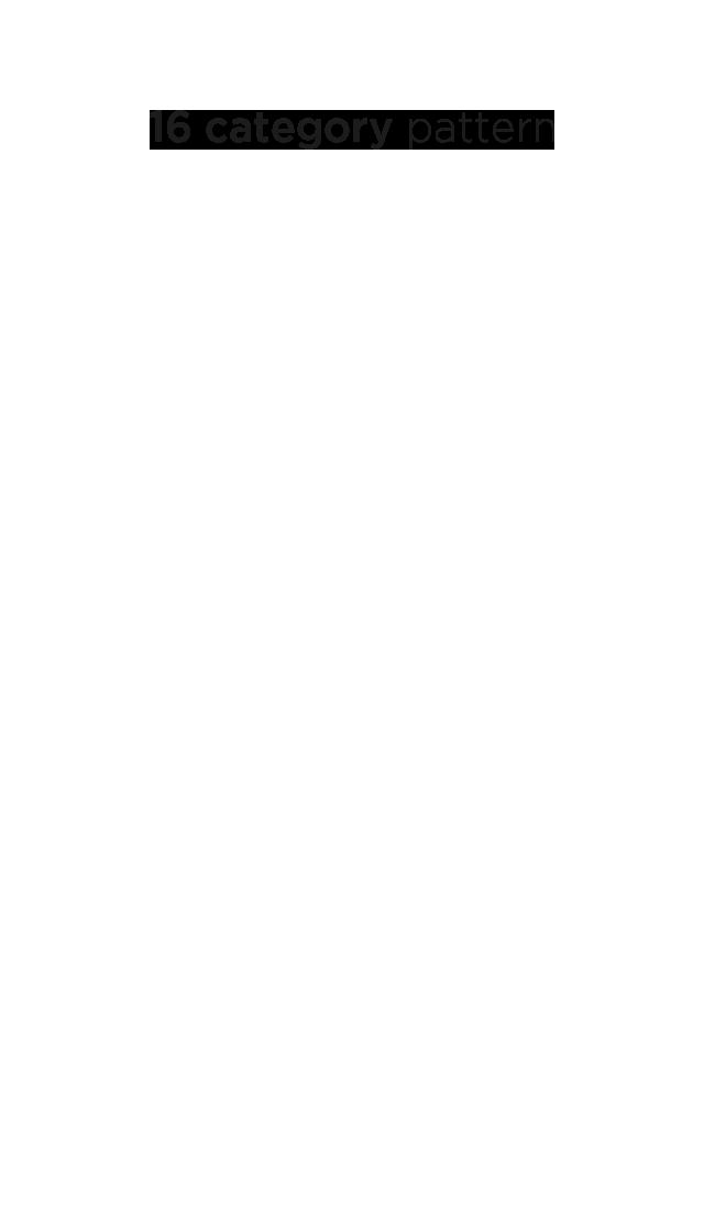 16 category pattern
